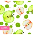 Slice of apple seamless pattern vector