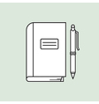 Notebook and pen vector