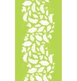 White on green leaves silhouettes vertical vector