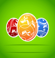Set of easter colorful ornate eggs vector