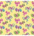 Bow seamless pattern vector