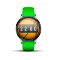 Sport smart watch with time and basketball ball vector