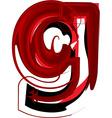 Artistic font letter g vector