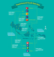 Asean nations infographic vector