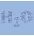 Water text vector