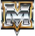 Fancy font letter m vector