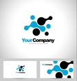 Blue dots abstract business vector