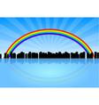 City rainbow vector
