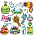 Icon set hygiene accessories vector