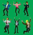 Businessman happy vector