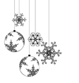 Christmas background elements for designers vector