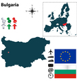 Bulgaria and european union map vector