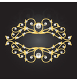 Golden pearl frame vector