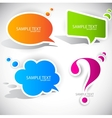 Speech bubble elements vector