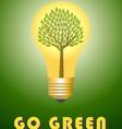 Go green concept vector