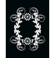 Number zero made with floral ornament on black bac vector