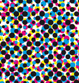 Cmyk halftone dot pattern vector