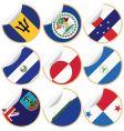 World sticker labels vector