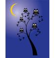 Owl family tree vector