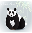 Giant panda card vector