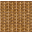 Wooden basket weaving vector