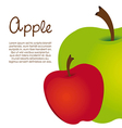 Apple design on white background vector