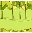 Decorative trees background vector