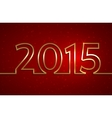 2015 new year red greeting billboard with golden vector