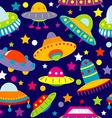 Ufo cartoon seamless vector