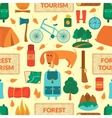 Camping equipment seamless pattern vector