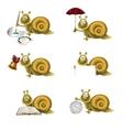 Funny snail vector
