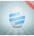 Realistic white egg on abstract background vector