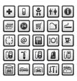 Gas station symbols vector