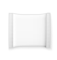 Blank white plastic sachet vector