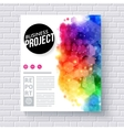Attractive web template for business project vector