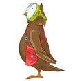Cartoon character funny owl vector