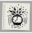 Doodle alarm clock vector