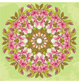Round pattern - abstract floral background vector