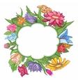 Bright flower frame vector