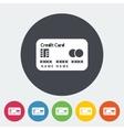 Credit card single flat icon vector