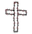 Cross silhouette vector