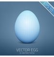 Abstract egg 3d mesh object futuristic vector