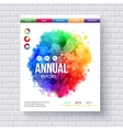 Business web template emphasizing annual reports vector