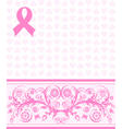 Pink ribbon background vector