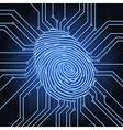 Fingerprint electronics vector