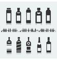 Set of symbols bottle alcohol vector