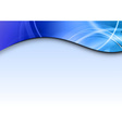 Blue wave backgroun on the light vector