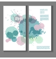 Flyer template with splashes and spots of paint vector