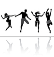 Jumping people friends vector