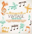 Vintage music design elements vector